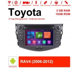 7 Zoll Android 9.0 Autoradio / Multimedia 2GB RAM 16GB ROM Für Toyota RAV4 Mit WiFi NAVI Bluetooth USB