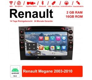 7 Zoll Android 10.0 Autoradio/Multimedia 2GB RAM 16GB ROM Für Renault Megane 2003-2010