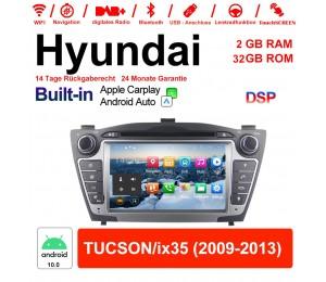 7 Zoll Android 10.0 Autoradio / Multimedia 2GB RAM 32GB ROM Für Hyundai TUCSON/ix35 Mit WiFi NAVI Bluetooth USB