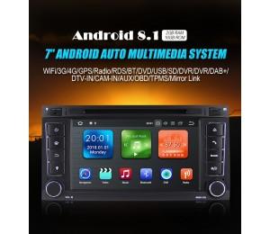 Android 8.1 Quad-Core 2GB RAM 16GB flash Autoradio / Multimedia für VW Touareg
