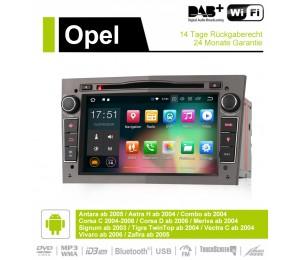 2din Android 9.0 Octa-core 2GB RAM 16GB ROM Autoradio Für Opel Astra Vectra Antara Zafira Corsa GPS Navigation Radio Farbe Grau