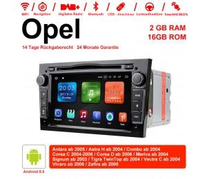 2din Android 9.0 Octa-core 2GB RAM 16GB ROM Autoradio Für Opel Astra Vectra Antara Zafira Corsa GPS Navigation Radio Farbe Schwarz