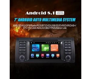 2 Din Android 8.1 Quad-core 2G RAM 16G flash Car DVD Player Radio für BMW
