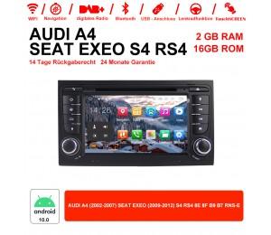 7 Zoll Android 10.0 Autoradio/Multimedia 2GB RAM 16GB ROM Für Audi A4 SEAT EXEO S4