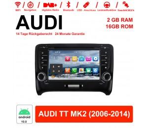 7 Zoll Android 10.0 Autoradio/Multimedia 2GB RAM 16GB ROM Für Audi TT MK2