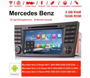 7 Zoll Android 9.0 Autoradio / Multimedia 2GB RAM 16GB ROM Für Mercedes Benz E-Klasse W211,CLS Klasse W219,G-Klasse W463