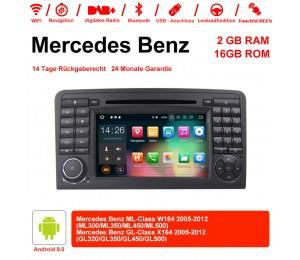 7 Zoll Android 9.0 Autoradio/Multimedia 2GB RAM 16GB ROM Für Mercedes Benz ML/GL-Class W164 X164