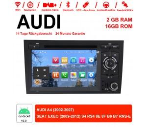 7 Zoll Android 10.0 Autoradio / Multimedia 2GB RAM 16GB ROM für Audi A4 ,SEAT EXEO S4 RS4 8E 8F B9 B7 RNS-E