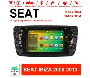 7 Zoll Android 10.0 Autoradio / Multimedia 2GB RAM 16GB ROM Für SEAT IBIZA 2009-2013