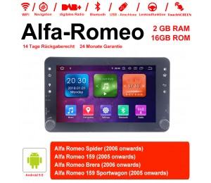 7 Zoll Android 9.0 Autoradio/Multimedia 2GB RAM 16GB ROM Für Alfa Romeo Spider 159 Brera 159 Sportwagon