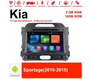8 Zoll Android 9.0 Autoradio / Multimedia 2GB RAM 16GB ROM Für Kia Sportage