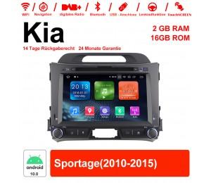 8 Zoll Android 10.0 Autoradio / Multimedia 2GB RAM 16GB ROM Für Kia Sportage