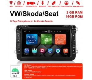 8 Zoll Android 10.0 Autoradio/Multimedia  2GB RAM 16GB ROM  Für VW JETTA Tiguan Passat B6 Touran Caddy Amarok Golf