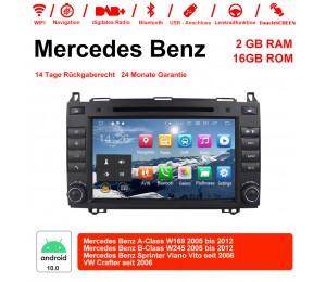 8 Zoll Android 10.0 Autoradio/Multimedia 2GB RAM 16GB ROM Für Mercedes BENZ A Klasse W169, B Klasse W245, Sprinter Viano Vito und VW Crafter