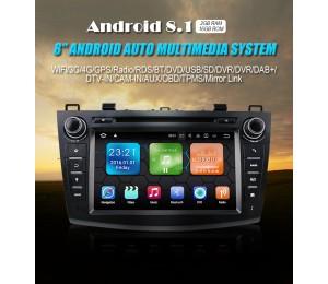 Android 8.1 Quad-core 2G RAM 16G flash Car DVD Player AutoRadio für new Mazda3(2010-2013)