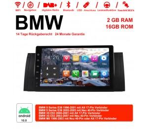 9 Zoll Android 10.0 Autoradio/Multimedia 2GB RAM 16GB ROM Für BMW X5 E53 M5 E39
