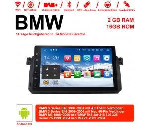 9 Zoll Android 9.0 Autoradio/Multimedia 2GB RAM 16GB ROM Für BWM 3Series M3 75 E46 3er MG ZT