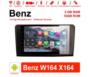 9 Zoll Android 9.0 Autoradio/Multimedia 2GB RAM 16GB ROM Für Mercedes Benz ML/GL-Class W164 X164