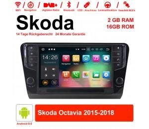 9 Zoll Android 9.0 Autoradio / Multimedia 2GB RAM 16GB ROM für Skoda Octavia 2015-2018