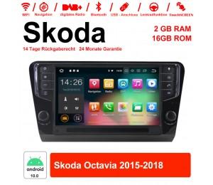 9 Zoll Android 10.0 Autoradio / Multimedia 2GB RAM 16GB ROM für Skoda Octavia 2015-2018