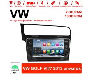 9 Zoll Android 10.0 Autoradio / Multimedia 2GB RAM 16GB ROM Für VW GOLF VII/7 2013 onwards
