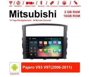 9 Zoll Android 9.0 Autoradio/Multimedia 2GB RAM 16GB ROM Für Mitsubishi Pajero