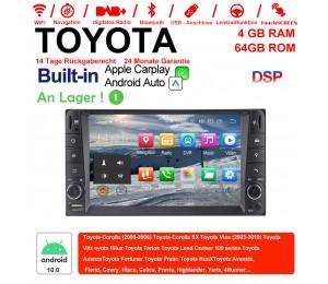 7 Zoll Android 9.0 Autoradio / Multimedia 4GB RAM 64GB ROM Für Toyota Corolla Vios Terios Land Cruiser Avanza RunX Built-in Carplay / Android Auto