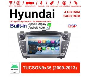 7 Zoll Android 10.0 Autoradio / Multimedia 4GB RAM 64GB ROM Für Hyundai TUCSON/ix35 Built-in Carplay / Android Auto