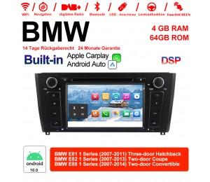 7 Zoll Android 10.0 Autoradio / Multimedia 4GB RAM 64GB ROM Für BMW E81 E82 E88 Built-in Carplay / Android Auto