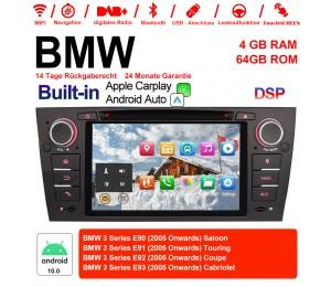 7 Zoll Android 10.0 Autoradio / Multimedia 4GB RAM 64GB ROM Für 3 Serie BMW E90 E91 E92 E93 318 320 325 Manuelle Klima klimaanlage Built-in Carplay / Android Auto