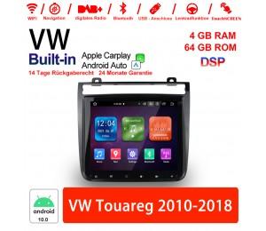 9 Zoll Android 10.0 Autoradio / Multimedia 4GB RAM 64GB ROM Für VW Touareg 2010-2018 Built-in Carplay / Android Auto