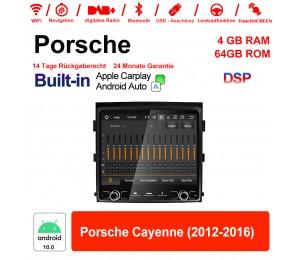 8.8 Zoll Android 10.0 Autoradio / Multimedia 4GB RAM 64GB ROM Für Porsche Cayenne 2012-2016 Built-in Carplay / Android Auto