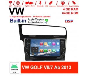 9 Zoll Android 10.0 Autoradio / Multimedia 4GB RAM 64GB ROM Für VW GOLF VII/7 ab 2013 Built-in Carplay / Android Auto