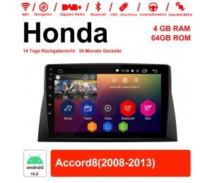 10.1 Zoll Android 10.0 Autoradio / Multimedia 4GB RAM 64GB ROM Für Honda Accord8 Mit WiFi NAVI Bluetooth USB