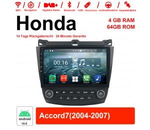 10.1 Zoll Android 10.0 Autoradio / Multimedia 4GB RAM 64GB ROM Für Honda Accord7 Mit WiFi NAVI Bluetooth USB