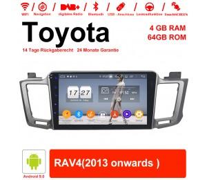 10.1 Zoll Android 9.0 Autoradio / Multimedia 4GB RAM 64GB ROM Für Toyota RAV4 Mit WiFi NAVI Bluetooth USB
