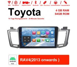 10.1 Zoll Android 10.0 Autoradio / Multimedia 4GB RAM 64GB ROM Für Toyota RAV4 Mit WiFi NAVI Bluetooth USB