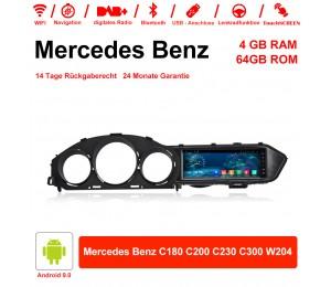 8,8 Zoll Android 9.0 Autoradio / Multimedia 4GB RAM 64GB ROM für Mercedes Benz C180 C200 C230 C300 W204