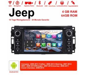 6.2 Zoll Android 9.0 Autoradio / Multimedia 4GB RAM 64GB ROM Für Jeep Wrangler Compass Caliber Sebring Journey