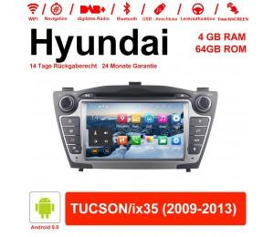 7 Zoll Android 9.0 Autoradio / Multimedia 4GB RAM 64GB ROM Für Hyundai TUCSON/ix35