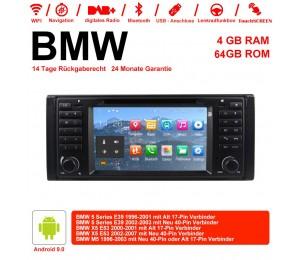 7 Zoll Android 9.0 Autoradio/Multimedia 4GB RAM 64GB ROM Für BMW 5series E39 X5 E53 M5