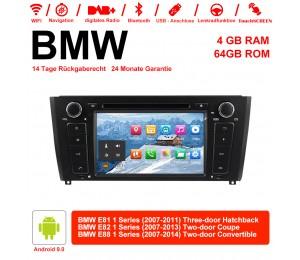 7 Zoll Android 9.0 Autoradio / Multimedia 4GB RAM 64GB ROM Für BMW E81 E82 E88