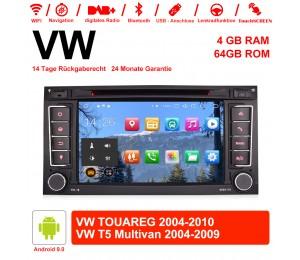7 Zoll Android 9.0 Autoradio/Multimedia 4GB RAM 64GB ROM Für VW TOUAREG 2004-2011,VW T5 Multivan 2004-2009 mit WiFi Navi USB...