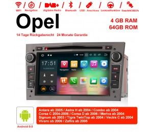 7 Zoll Android 9.0  Autoradio / Multimedia 4GB RAM 64GB ROM Für Opel Astra Vectra Antara Zafira Corsa GPS Navigation Radio Farbe Grau