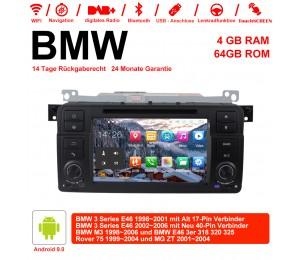 7 Zoll Android 9.0 Autoradio 4GB RAM 64GB ROM Für BMW 3 Series E46 BMW M3 Rover 75