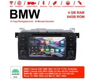 7 Zoll Android 10.0 Autoradio 4GB RAM 64GB ROM Für BMW 3 Series E46 BMW M3 Rover 75