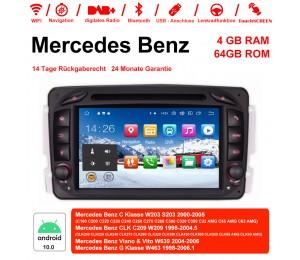 7 Zoll Android 10.0 Autoradio / Multimedia 4GB RAM 64GB ROM Für Benz C-klasse W203 W209 G-klasse W463 Eine Klasse W168 Vito
