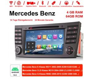 7 Zoll Android 10.0 Autoradio / Multimedia 4GB RAM 64GB ROM Für E-Klasse W211,CLS Klasse W219,G-Klasse W463