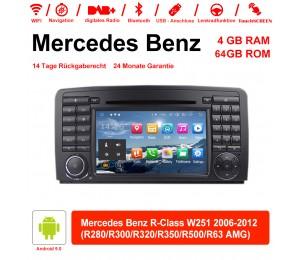7 Zoll Android 9.0 Autoradio / Multimedia 4GB RAM 64GB ROM Für Benz R-Class W251 2006-2012