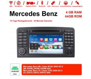 7 Zoll Android 10.0 Autoradio / Multimedia 4GB RAM 64GB ROM Für Benz W164 X164